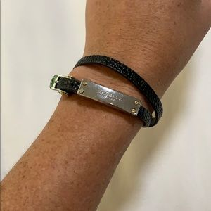 Henri Bendel Leather and Metal Belt Bracelet